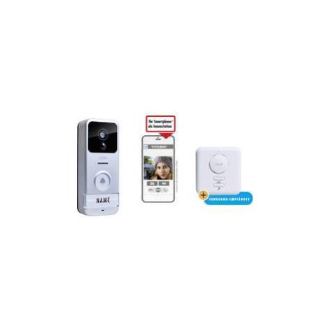 Wi-Fi domovní IP/video telefon m-e modern-electronics VS B10 41153, stříbrná, černá