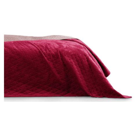 Červený přehoz přes postel AmeliaHome Laila Ruby Red, 260 x 240 cm