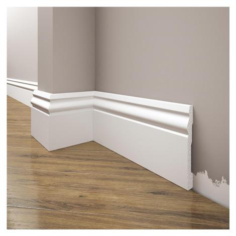 Podlahová lišta Elegance LPC-08-101 bílá mat