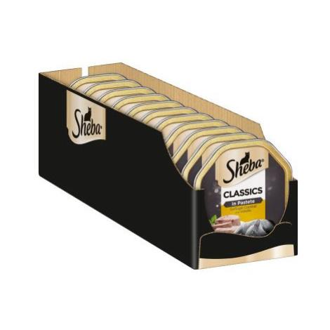 Megapack Sheba mističky 22 x 85 g - Classics paštika telecí a kuřecí maso